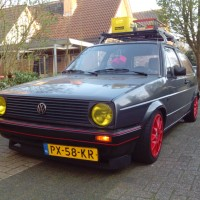 VW Golf 2 rat look met USLights