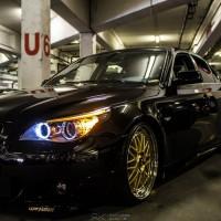 BMW 5 serie met USLights en Angle Eyes