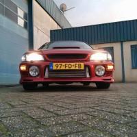 Subaru Impreza met USLights en grote intercooler 1