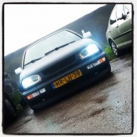 VW Golf 3 met USLights en angel eyes
