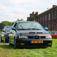 Seat Ibiza op meeting met USLights