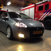 Fiat Punto in brandweerkazerne USLights + Mistlichten