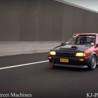 Toyota Starlet Turbo met USLights