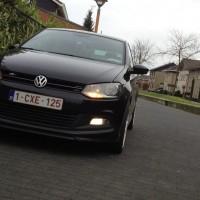 VW Polo 6R met USLights en mistlampen aan