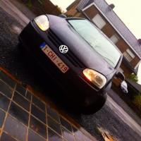 VW Golf 5 met USLights in Belgische auto