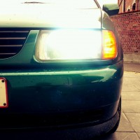 VW Polo 6N met USLights close-up
