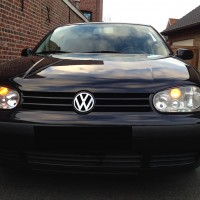 VW Golf 4 met USLights zwart