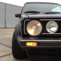 Golf 1 Cabrio met USLights