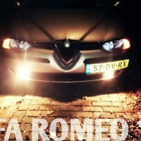 Alfa 156 in de avond