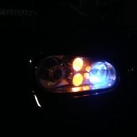Golf 4 koplamp met dubbele knipperlichten en USLights