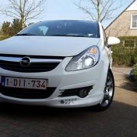 Opel Corsa met USLights en xenon LV