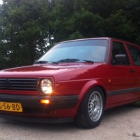 Golf 2 met USLights en GTI grill