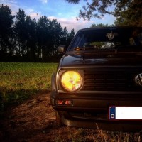 Volkswagen Golf 2 dunne bumpers USLights donker