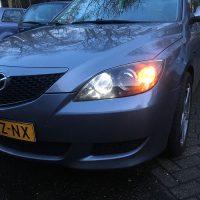 Mazda 3 USLights en verlichting aan