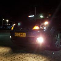Ford Fiesta met USL en mistlampen aan