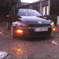 VW Scirocco met USLights zwart