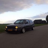 Golf 2 met USLights en Borbet T