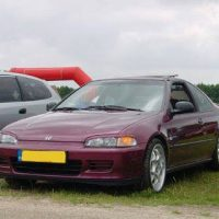 Honda Civic met USLights en booskijkers