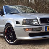 Audi 80 cabrio met USLights en projector headlights
