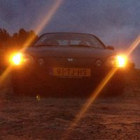 Honda Del Sol met USLights nachtfoto