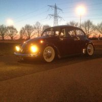 VW Kever 1972 met USLights