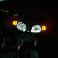 Motor met USLights als Runninglights