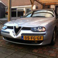 Alfa 156 met USLights en StanceWorks sticker