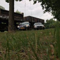 Citroen C2 en Polo 6n2 gti in hoog gras