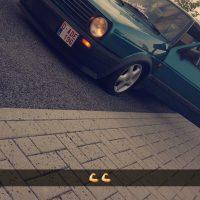VW mk2 Golf met USLights in dunne bumpers