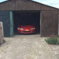 Mitsubishi Eclipse in barn