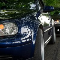 Golf 4 met USLights en breedset