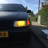 VW Polo 6N met USLights en gele koplampen