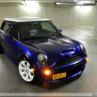 Mini Cooper midnight blue USLights en sidelights