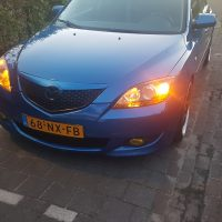 Mazda 3 Blue USLights yellow foglights