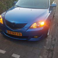 Mazda 3 Blue USLights yellow foglights