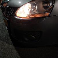 VW Golf 5 met USLights mooie foto in de avond