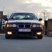 BMW 3er reihe e36 in industriele omgeving
