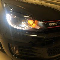 VW Polo 6R GTI met USLights en dagrijverlichting LED
