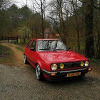 VW Golf mk2 GTI classic met T5 Steelies