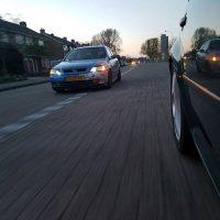 Opel Astra met USLights en stickerbomb bumper