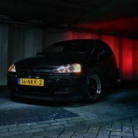 Opel Corsa GSI met USLights en verlaagd